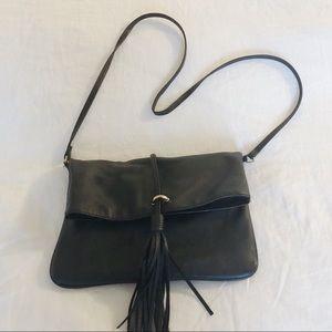 H&M Black Foldover Shoulder Bag